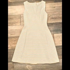 Lilly Pulitzer gold/white fit and flare dress XS